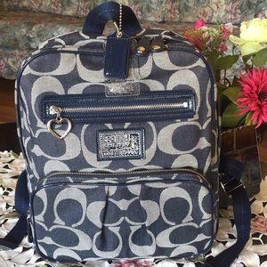 Coach poppy Daisy Signature Denim Backpack